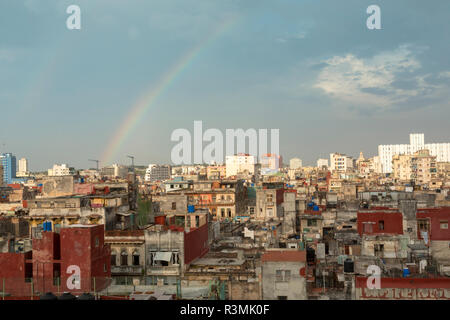 Cuba, Havana. Rainbow over city. Credit as: Wendy Kaveney / Jaynes Gallery / DanitaDelimont.com - Stock Image
