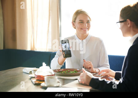 Discussing new dress - Stock Image