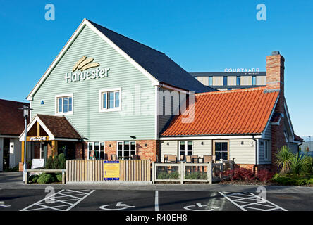 Harvester Restaurant, Didcot, Oxfordshire, England UK - Stock Image