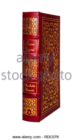 The Easton Press leather-bound edition of 'Jayne Eyre', by Charlotte Bronte. - Stock Image