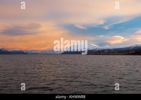 Northern Norway sunrise - Stock Image