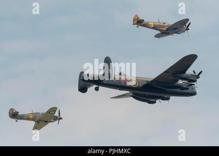 RAF Battle of Britain Memorial Flight, RIAT 2018, RAF Fairford, UK - Stock Image
