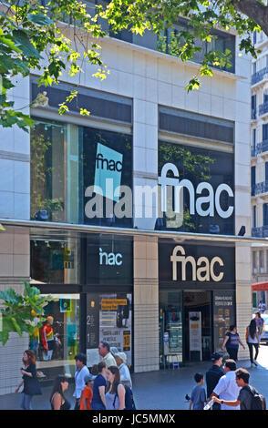 FNAC boutique, Barcelonna, Spain - Stock Image