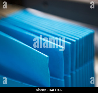 files, folders, papers, important, blue, filing, office - Stock Image