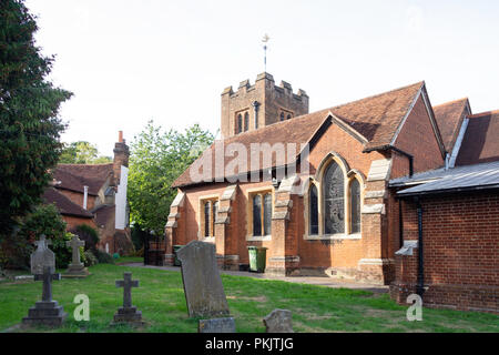 St James Parish Church, Windmill Road, Fulmer, Buckinghamshire, England, United Kingdom - Stock Image