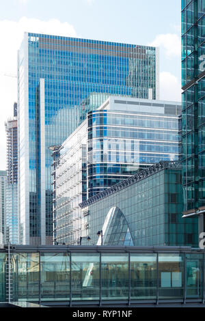 Canary Wharf, London, UK - Stock Image