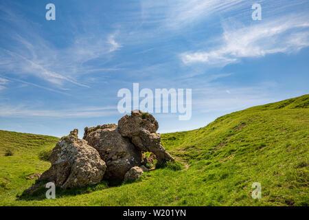 Elephant Rock at Kemerton Iron Age Fort on Bredon Hill, Worcestershire, England - Stock Image