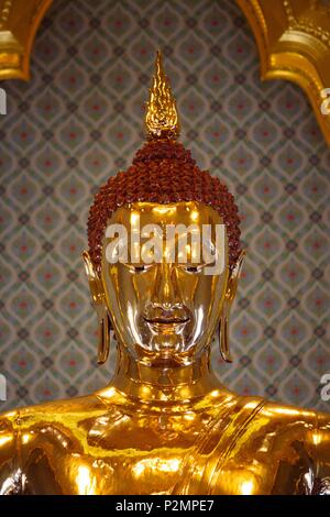Thailand, Bangkok, Wat Traimit, Golden Buddha Pagoda - Stock Image