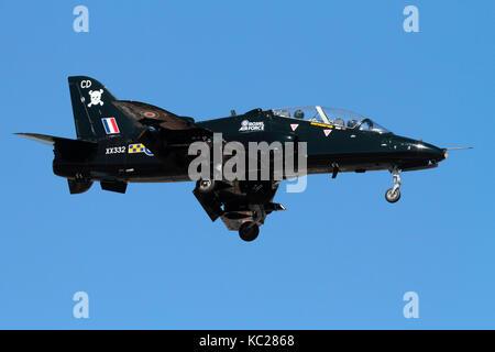 British Aerospace Hawk T1 military training jet plane of the Royal Air Force - Stock Image