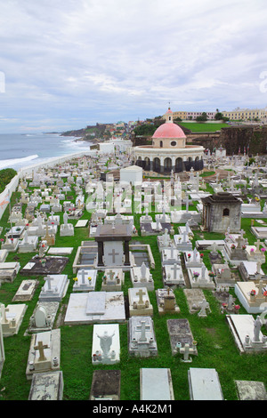 Fort and cemetary Old San Juan, Puerto Rico. - Stock Image