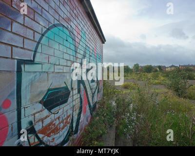 Empty Urban Waste Land Leeds West Yorkshire UK - Stock Image