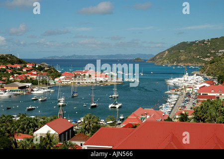 St Barths Caribbean French West Indies Gustavia Harbor - Stock Image