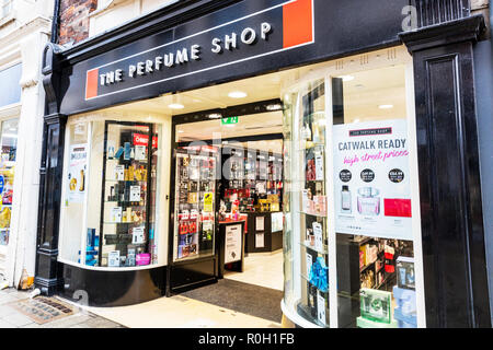 The Perfume Shop high street store UK, The Perfume Shop business, The Perfume Shop logo, The Perfume Shop sign, The Perfume Shop display, The Perfume - Stock Image
