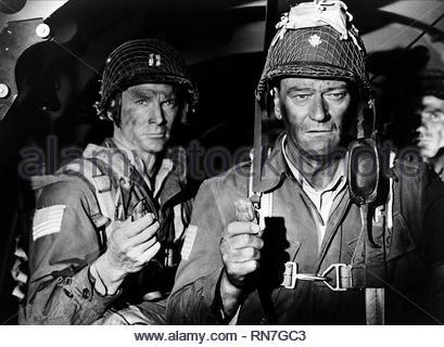 THE LONGEST DAY, JOHN WAYNE, 1962 - Stock Image