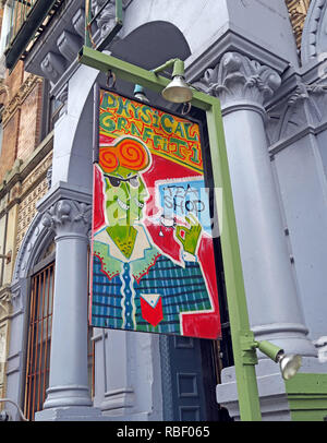 Physical Graffiti Tea Shop, St Marks, Graffitea, East Village, Manhattan, NYC,NY, USA - Stock Image