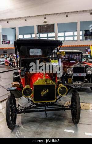 Bielsko-Biala, Poland. 12th Aug, 2017. International automotive trade fairs - MotoShow Bielsko-Biala. Old Ford T from 1913 year. Credit: Lukasz Obermann/Alamy Live News - Stock Image
