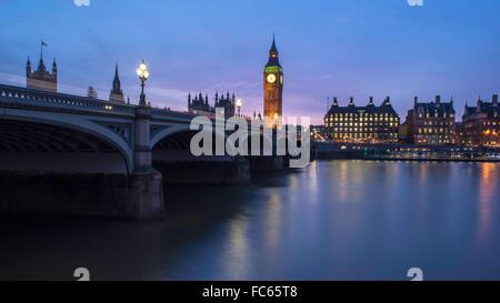 Westminster Bridge and Big Ben - Stock Image