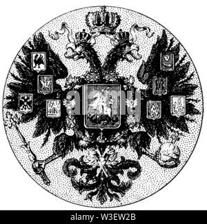Coat of arms: Russia, ,  (cultural history book, 1875) - Stock Image