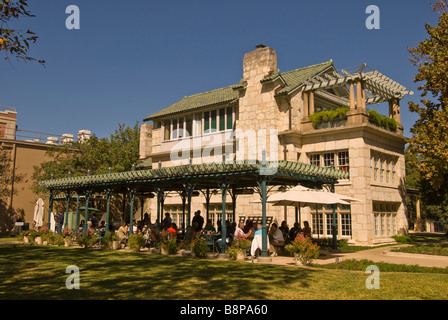 Guenther House san antonio texas tx restored as ac museum and restaurant outdoor cafe with diners, popular tourist - Stock Image