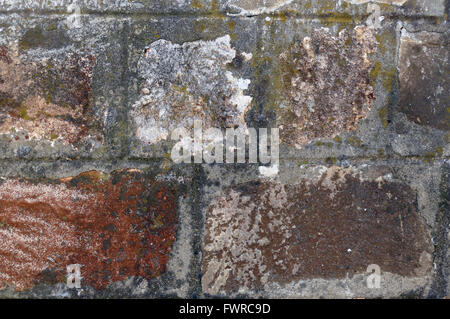 Wall of hewn stones. - Stock Image