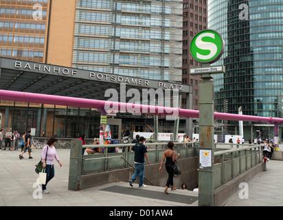 Subway station at Potsdamer Platz in Berlin Germany - Stock Image