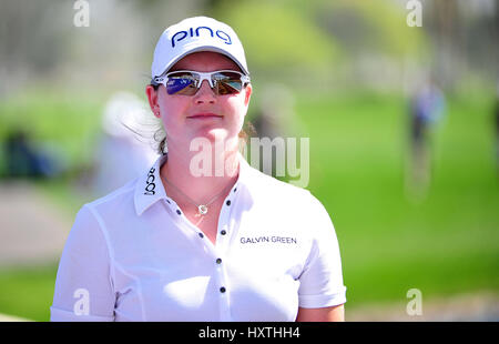 30 March, 2017: Caroline Mason of Germany on the 18th hole during the first round of the ANA Inspiration at the - Stock Image