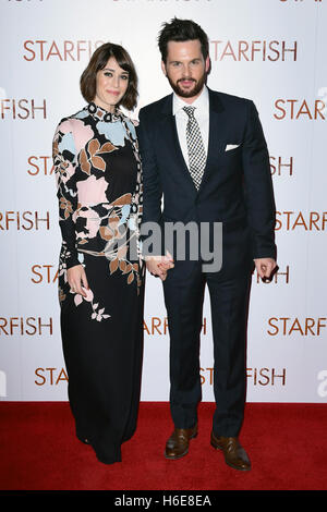 Lizzy Caplan and Tom Riley attending the UK premiere of Starfish at the Curzon Mayfair cinema in London. PRESS ASSOCIATION - Stock Image