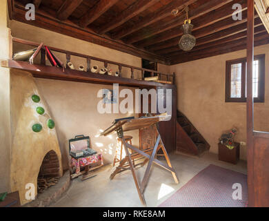Cairo, Egypt - January 8 2019: Architecture studio of the late architect Hassan Fathy, Egypt's best-known architect - Stock Image