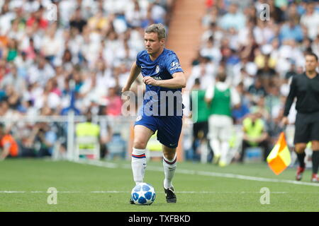 Madrid, Spain. 23rd June, 2019. Danay Granville (Chelsea) Football/Soccer : Friendly 'Corazon Classic Match 2019' between Real Madrid Leyendas 5-4 Chelsea Legends at the Santiago Bernabeu Stadium in Madrid, Spain . Credit: Mutsu Kawamori/AFLO/Alamy Live News - Stock Image