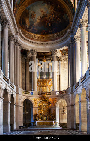 The Royal Chapel - Chapelle Royale, Chateau de Versailles (Palace of Versailles), a UNESCO World Heritage Site, France - Stock Image