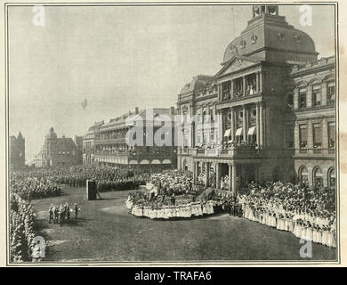 Vintage photograph of Service of thanksgiving for peace at Pretoria, second boer war, 1902 - Stock Image