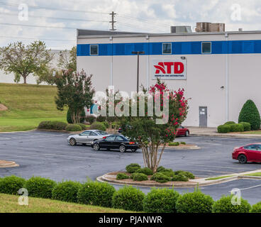 LINCOLNTON, NC, USA-9/2/18: ATD, American Tire Distributors warehouse-supplying tires, wheels, service equipment and shop supplies to tire dealers. - Stock Image