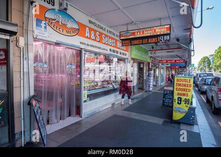 A& S Selected Meats Butchery on Botany Road, Mascot, Sydney Australia - Stock Image