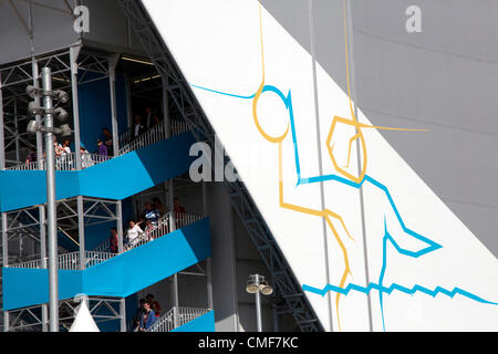 Water Polo Arena at Olympic Park, London 2012 Olympic Games site, Stratford London E20 UK, - Stock Image