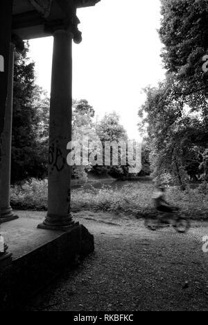 Public Gardens of Monza, Italy. Column - Stock Image