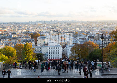 Paris (France) - View from Montmartre hill - Stock Image