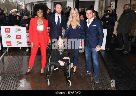 London, UK. 12th Mar, 2019. LONDON, UK. March 12, 2019: Hollyoaks arriving for the TRIC Awards 2019 at the Grosvenor House Hotel, London. Picture: Steve Vas/Featureflash Credit: Paul Smith/Alamy Live News - Stock Image