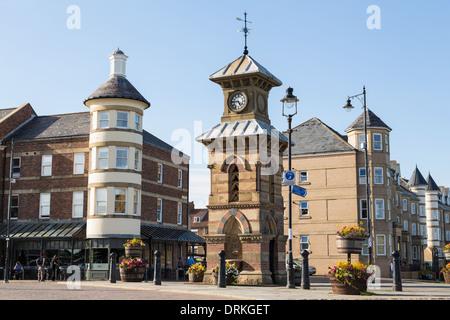 Victorian clocktower, Tynemouth, England - Stock Image