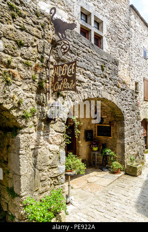 La Couvertoirade a Medieval fortified town in Aveyron, France - Stock Image