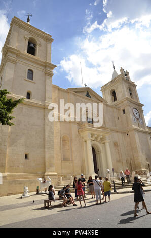 St. John's Co-Cathedral in the Maltese capital of Valletta. - Stock Image