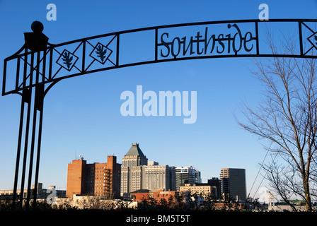 Greensboro, NC, North Carolina, skyline - Stock Image