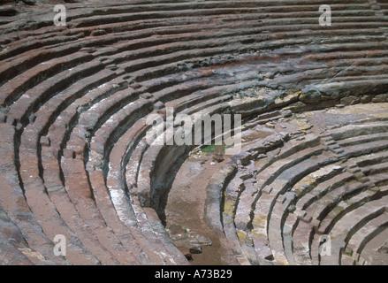 Jordan Petra Nabatean Amphitheatre - Stock Image