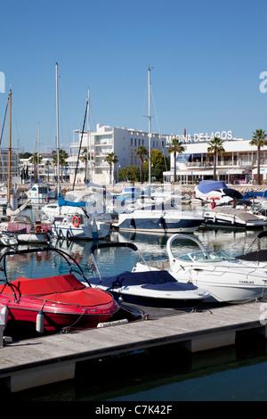 Portugal, Algarve, Lagos, Marina, Yachts - Stock Image