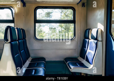 Inside the train in Russia - Stock Image