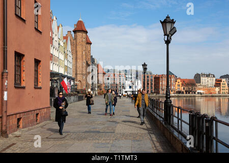 Waterfront near the old town at Gdansk, Poland - Stock Image