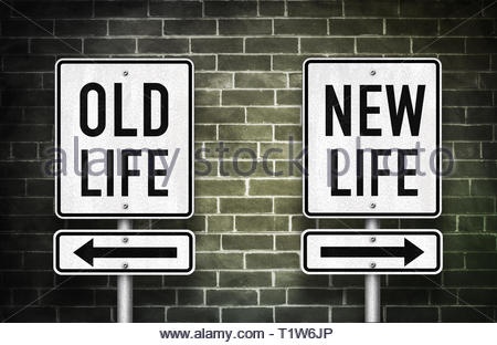 Old life versus new life - Stock Image