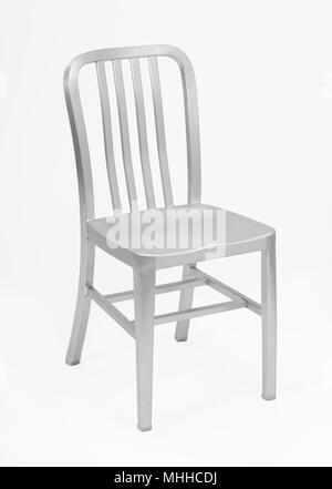 Aluminum Metal Chair - Stock Image
