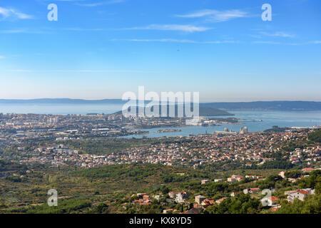 City of Split seen from Klis Fortress, Croatia - Stock Image