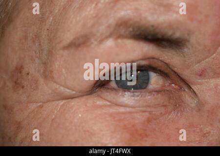 close-up of eye - Stock Image