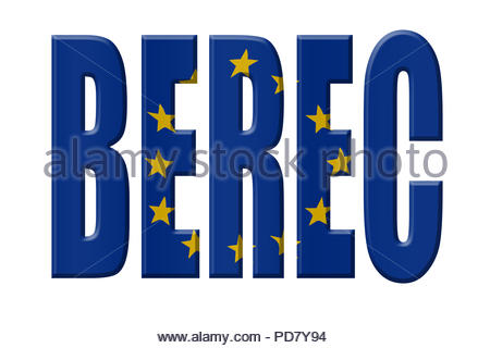 Digital Illustration - EU agency. BEREC Body of European Regulators for Electronic Communications, Gremium Europäischer Regulierungsstellen für elektr - Stock Image